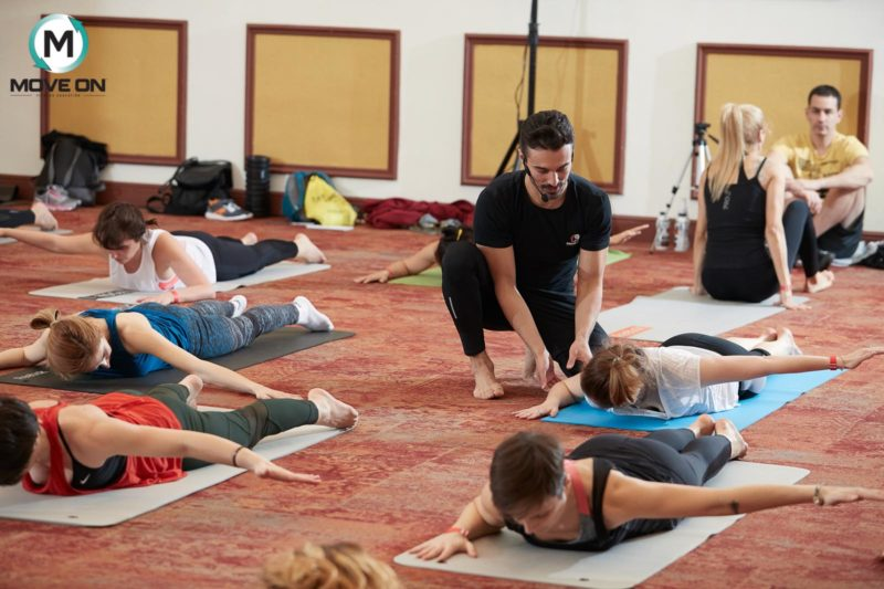 pilates; clasa de pilates de la conventia internationala YIN & YANG bucuresti 2018 1 (1)