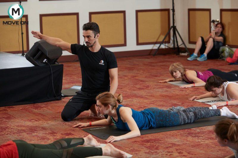 pilates; clasa de pilates de la conventia internationala YIN & YANG bucuresti 2018 1 (2)
